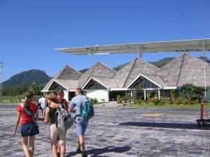 タヒチの国際空港