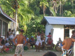 島で見かけたポリネシアンダンスの練習風景