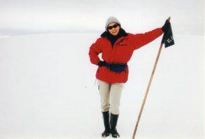 南極に立つ
